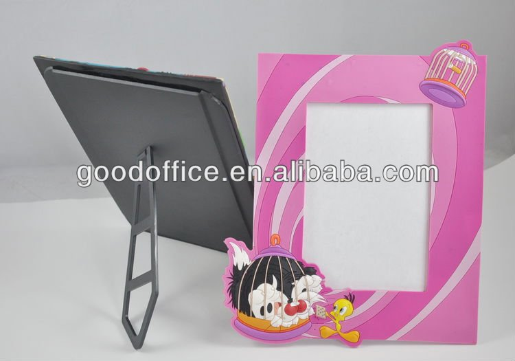 2016 wholesale new invention gifts with holder 3D soft pvc photo frame