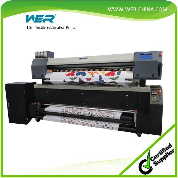 1.8m direct to fabric sublimation fabric printer