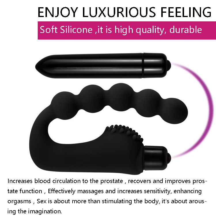 New vibrator beads men women adult sex dolls silicone electric shock anal plug