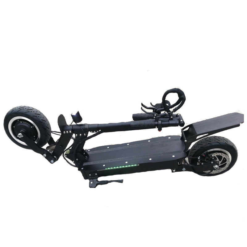 2018 hot selling 60V 5600W foldable dual motor 5000w electric scooter 72v for adults big powerful Off Road electric scooter, Black