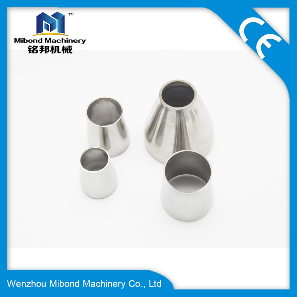 51mm to 102mm Sanitary Stainless Steel SS304 Reducer With Tri Clover Ferrule Ends