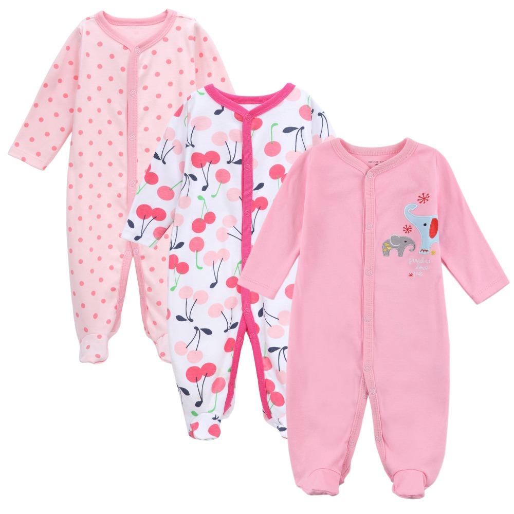 d5638e199ab4 Напечатанные с длинным рукавом милые теплые детские трико пижамы оптом для  новорожденных