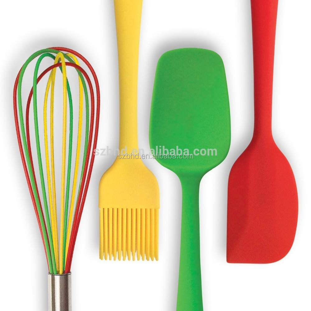 100% BPA free food grade heat resistant kitchen utensil set silicone cooking Utensils