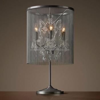 Crystal Chandelier Bedside Table Lamp