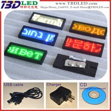 Factory price top high quality rechargeable led name tag