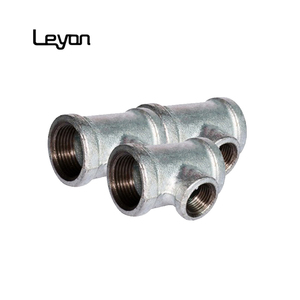 BS ANSI thread malleable iron fitting tee pipe fitting eccentric reducer types iso9001 malleable tee