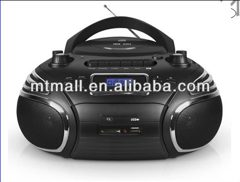 CD/MP3/USB/SD BOOMBOX com a rádio gravador de cassetes