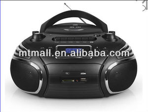 CD/MP3/USB/SD BOOMBOX with radio cassette recorder