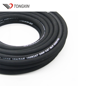 thermoplastic twin hose/double hose thin silicone rubber tube three quarter inch soiral hose