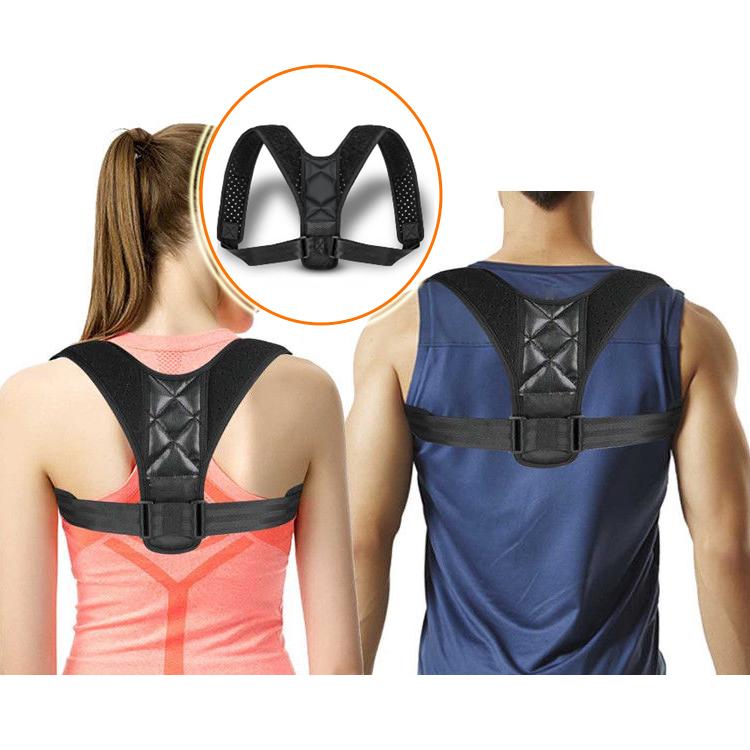 2019 Best Neoprene Adjustable Posture Corrector Shoulder Back Support Brace, Customized color