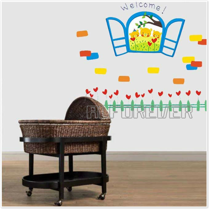 Removable kids room and nursery wall sticker decal