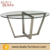 Elegant design 201 stainless steel round kitchen modern dining room table