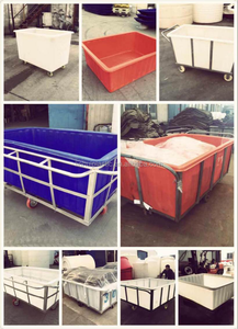 Factory supply plastic fabric storage boxes