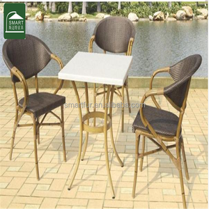 Modern cheap PE rattan sets BAMBOO FURNITURE SET