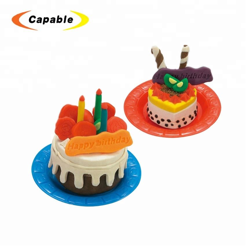 Tremendous Low Price Kid Colorful Birthday Cake Toy Play Dough Color Clay Set Funny Birthday Cards Online Drosicarndamsfinfo