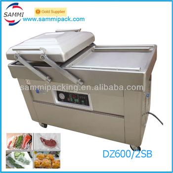 dz5002sb double chamber vacuum sealer skin packaging machine for salted meat - Chamber Vacuum Sealer