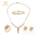 AAAAA 2018 Newest Gold Luxury Brass Wedding Stone Jewelry Set