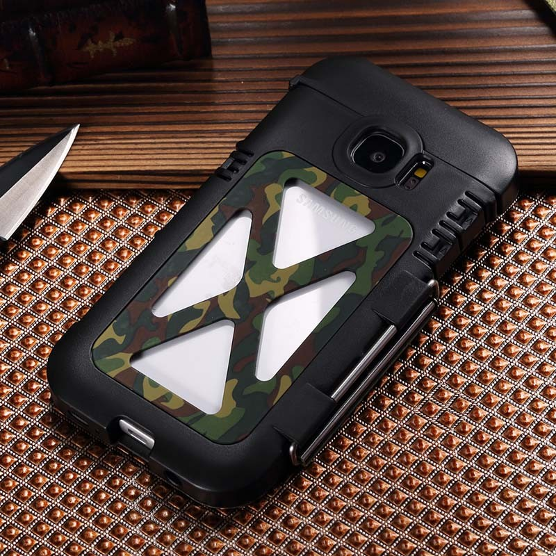 R-just Armor King Metal Phone Case for Samsung Galaxy S7 G9300 Case Cover Iron Man Sport Rugged Stainless Steel