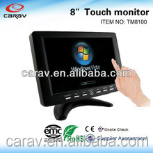 "8"" touch monitor Support DOS/Window 9X ME, 2K XP Vista NT Windows CE / LINUX / Mac"
