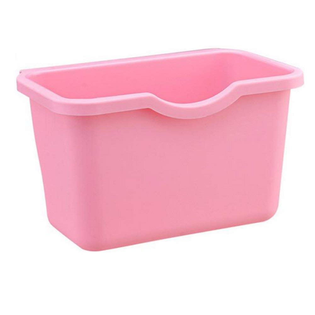 Topbeu Hanging Kitchen Waste Bin Cupboard Door Garbage Bin Scrap Storage Box (Pink)