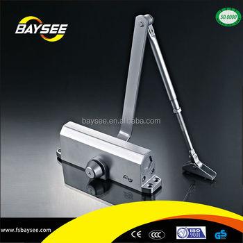 global door controls duty commercial door closer with parallel arm bracket in aluminum