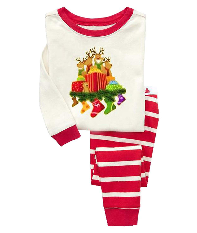 get quotations singuan long sleeve cotton little toddler girls pjs set christmas pajamas - Toddler Christmas Pajamas