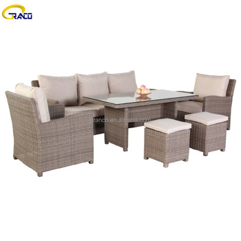6Pcs Unique Garden Rattan Set
