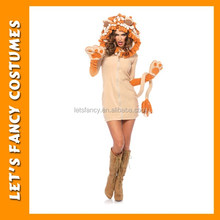 cheap sexy hot female plush lion animal costume PGWC1189
