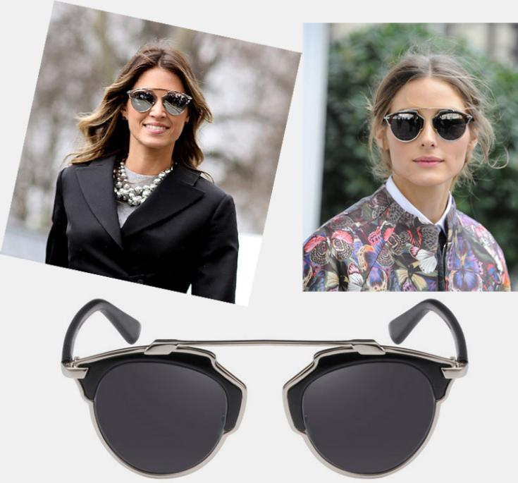 30d26816a2 Vintage Metal frame Sunglasses Women Brand New Designer Cat Eye Glasses  Fashion Women Decoration Men Classic Eyewear 7colors - Daybreak Plaza