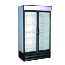 Commercial Glass Door Coke Cooler With Wheels