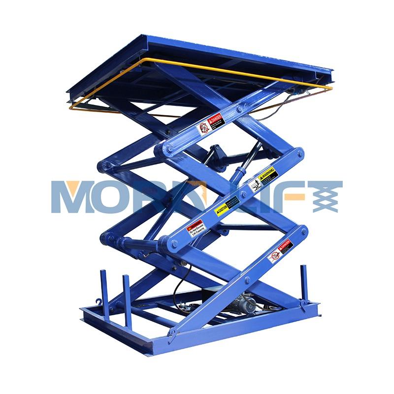 Hydraulic scissor ยกอุปกรณ์สำหรับ loading bay