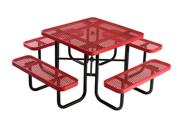 (TB18) Outdoor Iron Square Metal Dinning Table Set