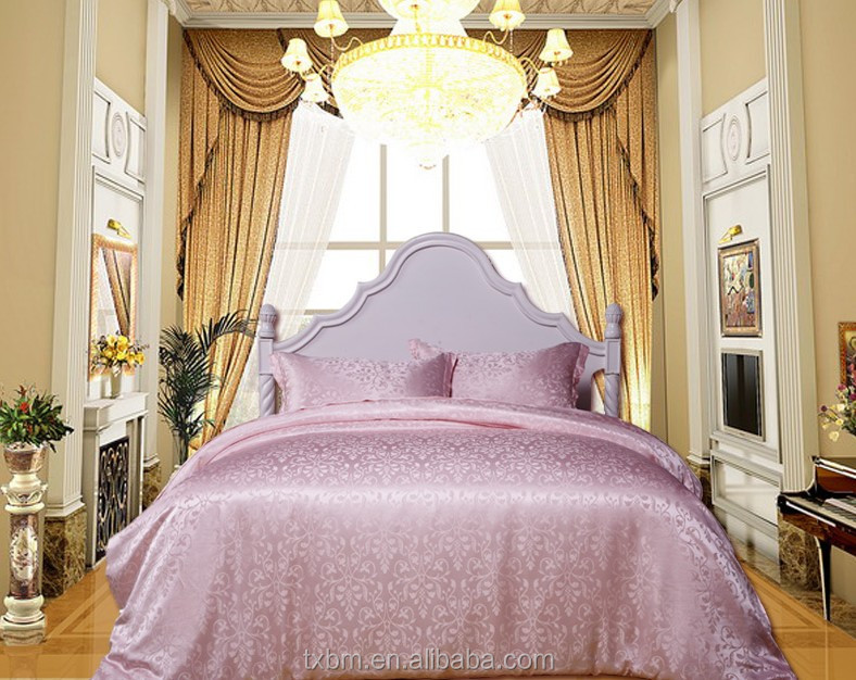 Luxury China natural healthy mulberry silk bedding set 4 pieces