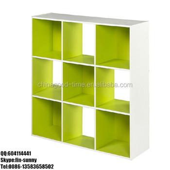 pas cher 9 cube biblioth que en bois tag re livres. Black Bedroom Furniture Sets. Home Design Ideas
