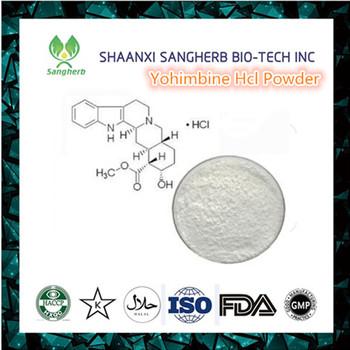 GMP certified yohimbe bark extract powder Yohimbine HCL 98%