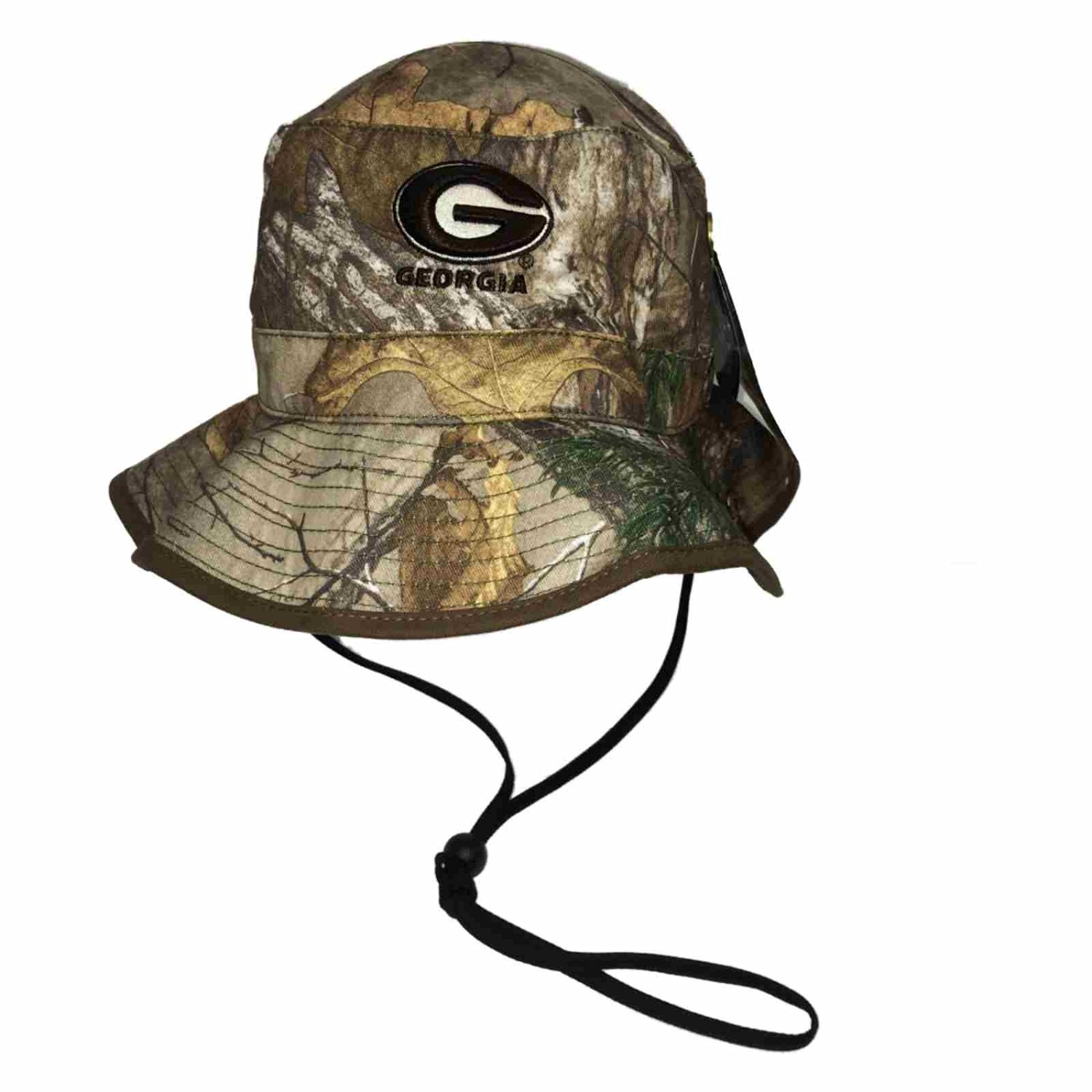 Georgia Bulldogs TOW Realtree Camo Bucket Hat Cap with Adjustable Chin Strap 82432c0b69a