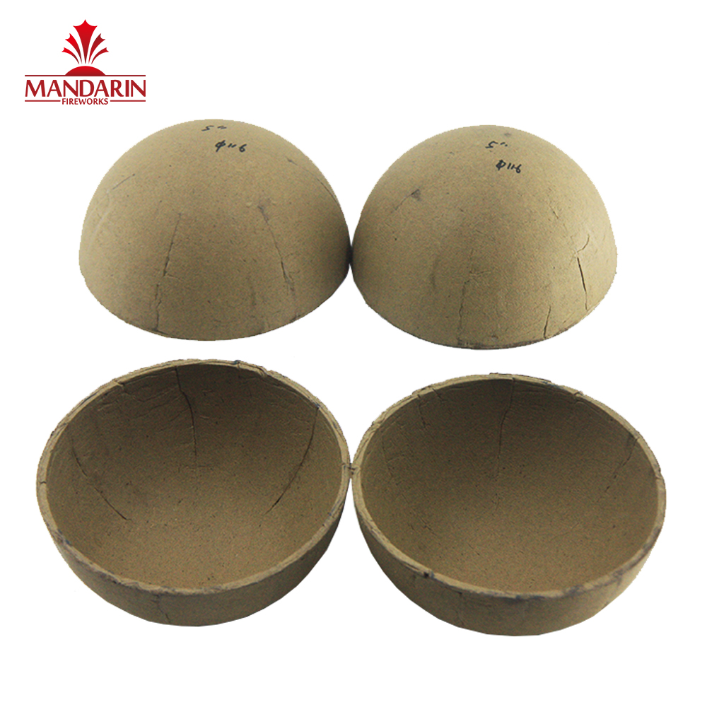 Free Sample High quality 5 inch round paired empty firework shell from China