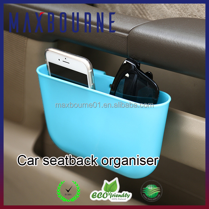 2017 Amazon Hot sale mini plastic car trash can seat back organiser
