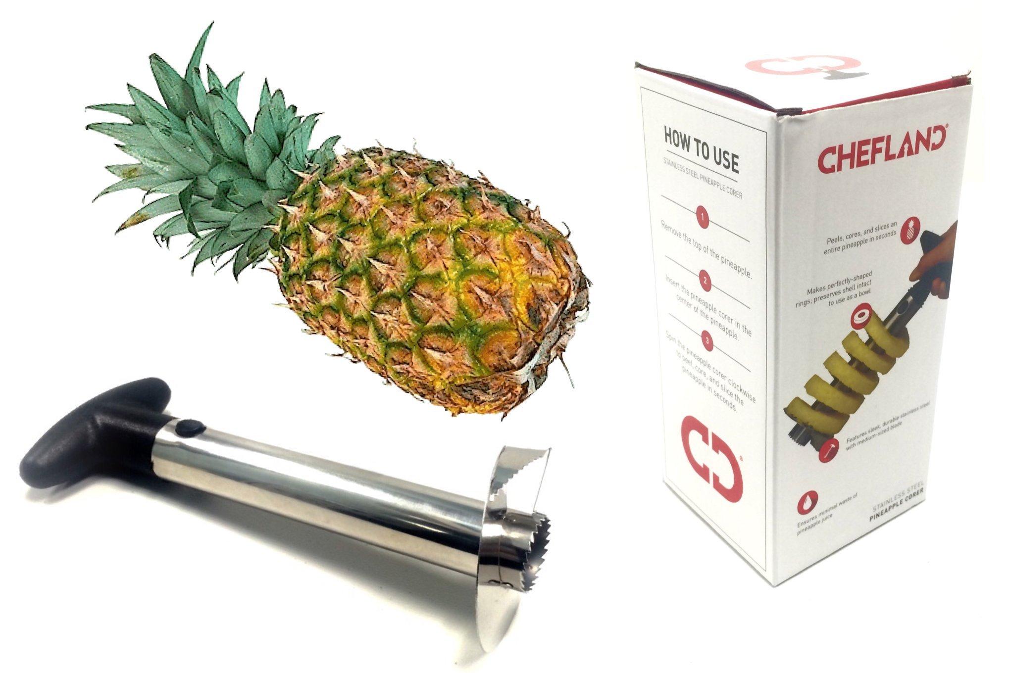 ChefLand Stainless Steel Pineapple Peeler, Pineapple Corer, Pineapple Slicer - All In One Kitchen Gadget