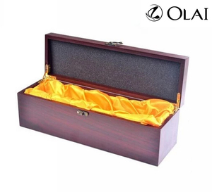 Custom High Quality Luxury Black Shiny Lacquered MDF or Solid Wooden Wine Box
