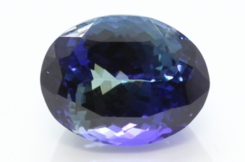 NATURAL TANZANITE 10.70 cts CERTIFIED EXCELLENT AAAA+ D'BLOCK BI-COLOR BLUE-GREEN NATURAL TANZANITE