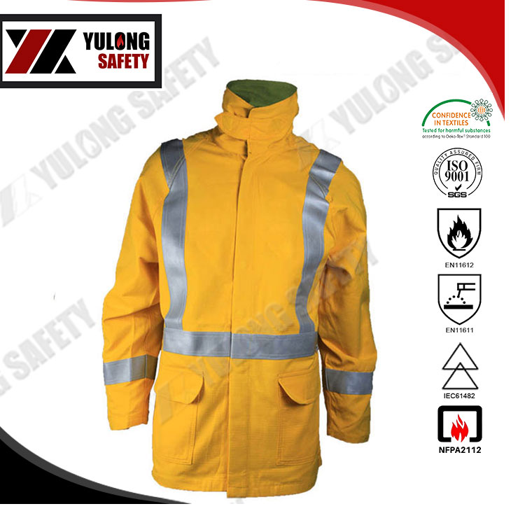 Cheap Price 100 Times Washing Flame Retardant Jacket With Color Fastness 4-5 Grade