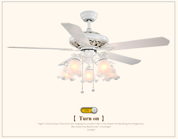 Indoor Decorative Elegant Western House Ceiling Wooden Design Fancy Fan Light