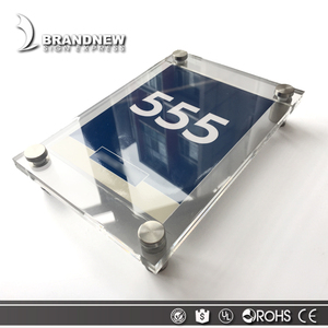 Custom design hotel used stainless steel metal sign wall room door number plates