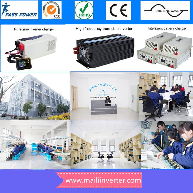 อินเวอร์เตอร์ dc 48 v ac 220 v 5000 w pure sine wave inverter solar power inverter dc to ac converter