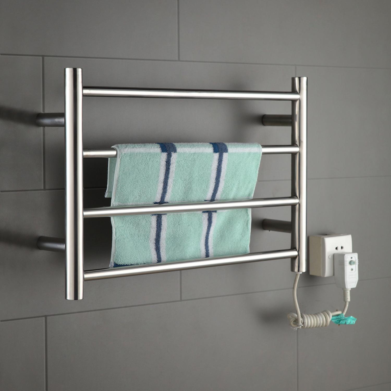 Stainless Steel Electric Dual Fuel Heated Towel Rack Rails
