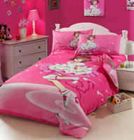 Children Fairy Bedding Set 3pcs, Quilt Cover, Bed Sheet, Pillow Case, Cartoon Character Design