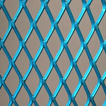 Standard Expanded Metal Mesh Sheet With Plastic Coating