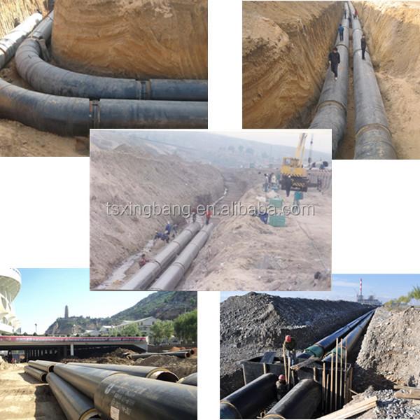 निर्माण सामग्री के साथ ठंडा पानी पाइप पुर फोम भरा और एचडीपीई आस्तीन डेनमार्क के लिए ठंडा पानी पाइप लाइन प्रणाली