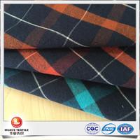 cotton wool blend stretch twill plaid flannel fabric